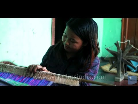 Woman Makes A Silk Wrap Around Skirt Phige Phanek In Manipur India Youtube
