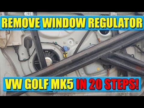 TUTORIAL: How to remove / replace window regulator VW Golf Mk5, Jetta in 20 steps