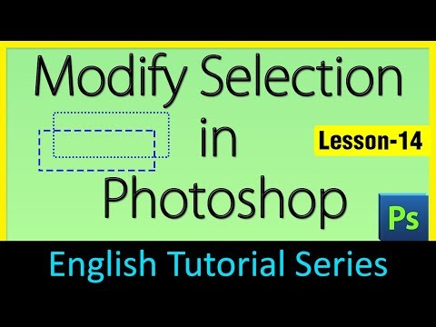 Modify selection in Photoshop (Lesson 14)