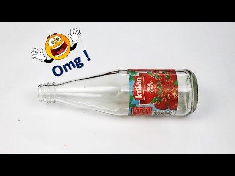 waste tomato sauce bottle reuse ideas   DIY best out of waste   Room decor idea
