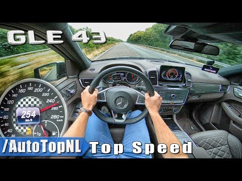 Mercedes AMG GLE 43 250km/h AUTOBAHN POV TOP SPEED by AutoTopNL