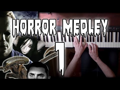 Horror Themes Medley on Piano - Part 1/3 | Rhaeide