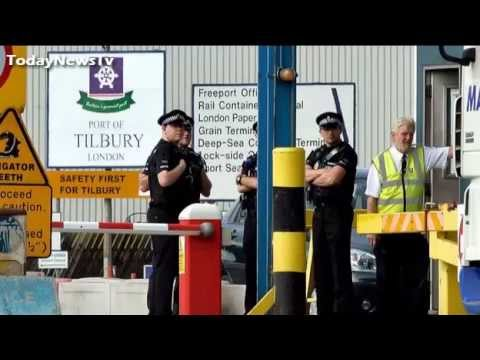 Tilbury Docks Man dies after 35 found in container