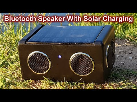 DIY Solar Powered Bluetooth Speaker 3W+3W PAM8403