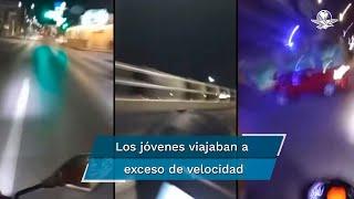 El accidente ocurrió la madrugada del miércoles en Tampico; cuerpos de emergencia trasladaron grave al joven que conducía, pero la copiloto que transmitía para Facebook falleció