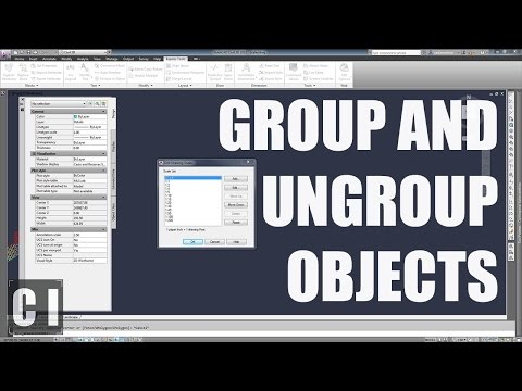 autocad-tutorial:-how-to-group-and-ungroup-objects---2min-tip,-trick-or-tutorial-#1