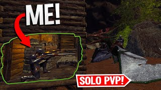 Solo Base Defense on the FIRST Hour of Wipe... - ARK