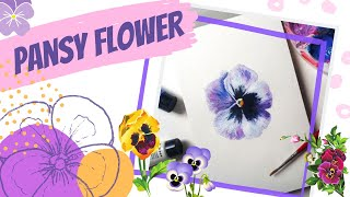 How to paint a pansy flower