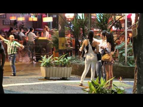 Medellin Colombia - Parque Lleras Wednesday Night
