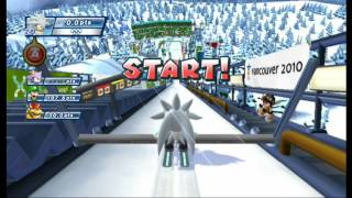 Ski Jumping - Mario & Sonic at the Olympic Winter Games Vancouver 2010