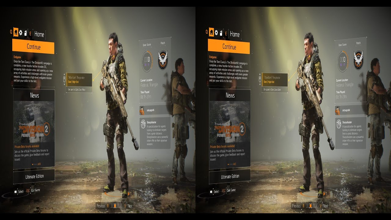 Tom Clancy`s The Division 2 Beta PC VR : L30 Invaded mission Sharphsooter  co-op
