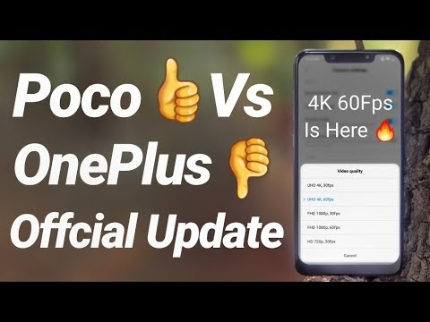 Poco F1 4K 60FPS Video Recording Update Review