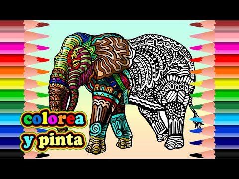Elefante mandala para colorear mandala elephant to - Colores para colorear ...
