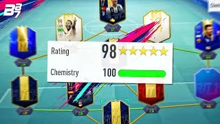 THE HIGHEST RATED TEAM ON FIFA! 198 SQUAD BUILDER! | FIFA 19