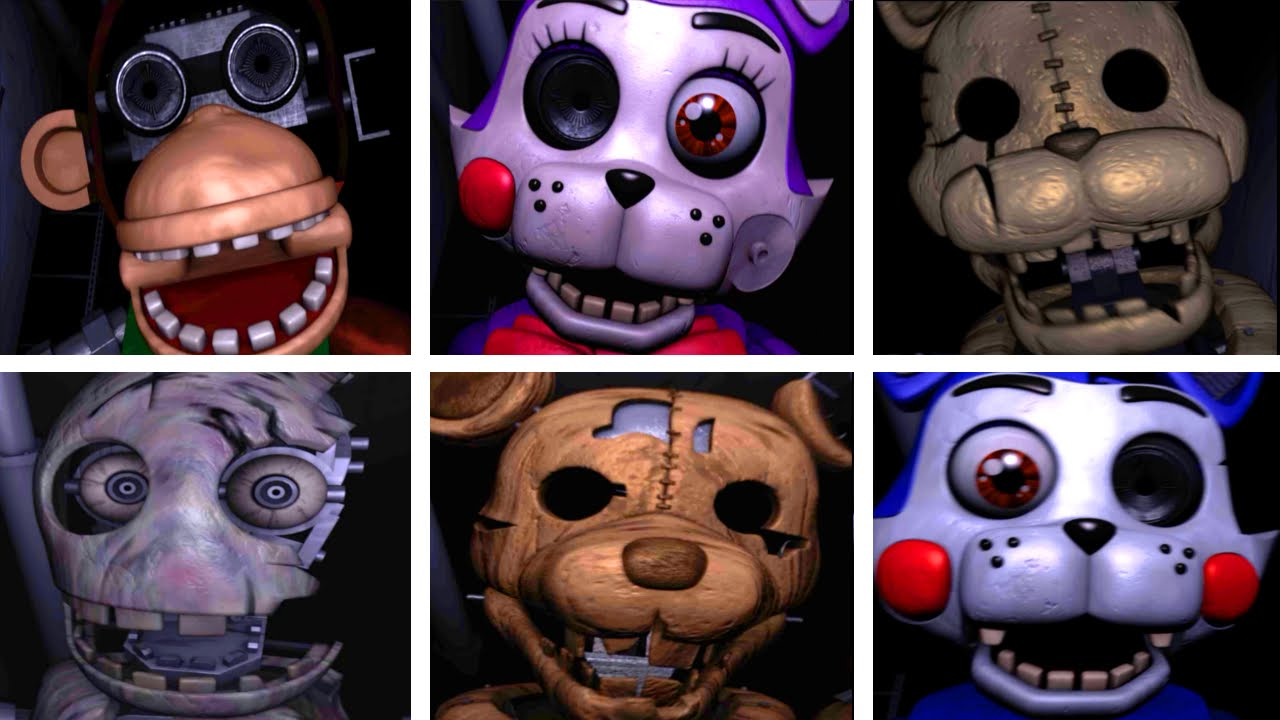 Five Nights at Candy's 2 ALL JUMPSCARES