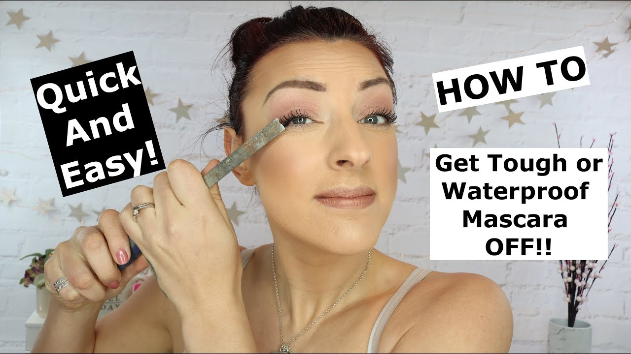 8f968d35e56 Removing Waterproof and Stubborn mascara   Quick and easy! - YouTube