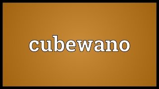 Cubewano Meaning