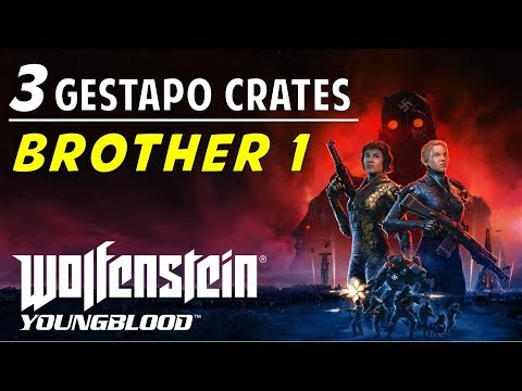 Location & Codes Of All Brother 1 Gestapo Crates | Wolfenstein Youngblood (Red Crates Guide)