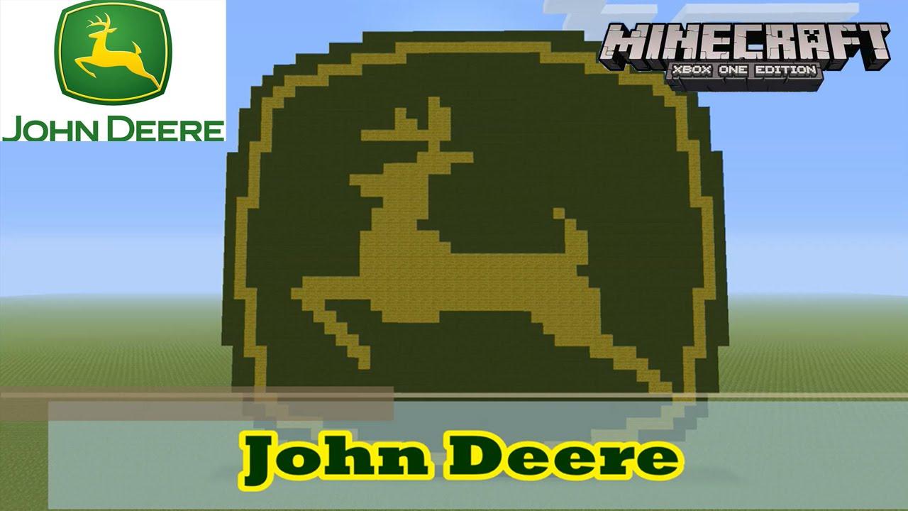 minecraft pixel art tutorial and showcase john deere logo youtube. Black Bedroom Furniture Sets. Home Design Ideas
