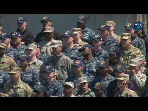 Vice President Pence Makes Remarks to US Service Members Abr