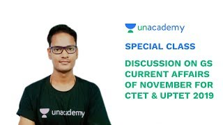 Special Class - Discussion on GS Current Affairs of November for CTET & UPTET - Saurabh Pandey