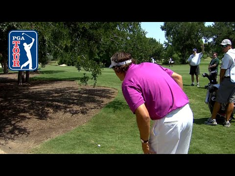 Phil made birdie from HERE?! Wild shot from 2012 AT&T Byron Nelson