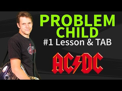 How To Play Problem Child Guitar Lesson & TAB #1 AC/DC