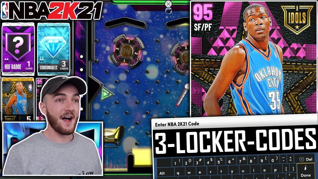 3 FREE NEW LOCKER CODES 2K21 + PINK DIAMOND KEVIN DURANT GAMEPLAY! (NBA 2K21 MyTEAM NEXT GEN)