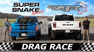 2021 RAM TRX vs 770HP Shelby F-150 Super Snake Sport // DRAG & ROLL RACE
