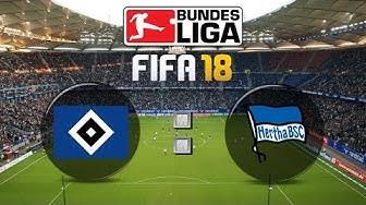 FIFA 18 Bundesliga Hamburger SV : Hertha BSC | Gameplay Deutsch Livestream
