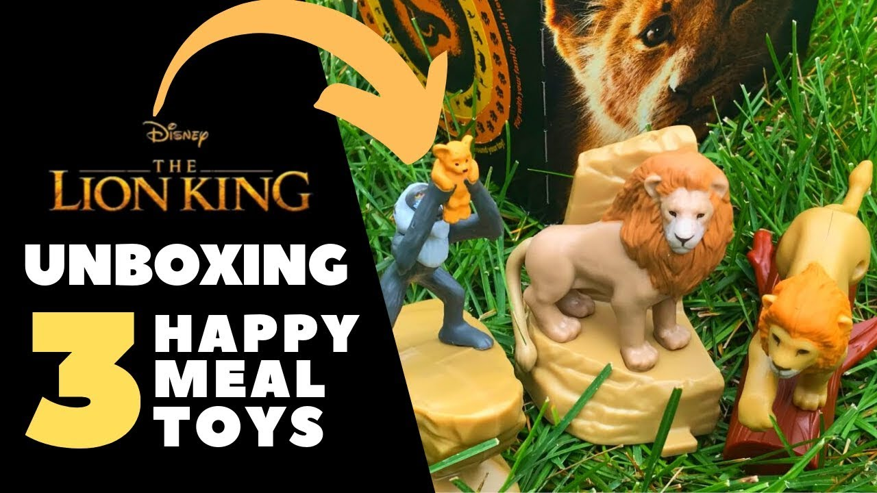 Lion King Happy Meal Toys Unboxing Outside In The Wild Movie Insider Youtube