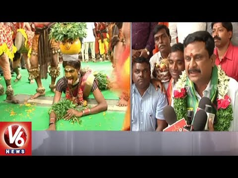 Bonalu Festival Celebrations In Telangana Secretariat | Hyderabad | V6 News