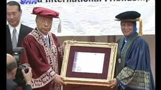 Event Special Convocation Conferment of Honorary Doctor of Arts to Dr Daisaku Ikeda