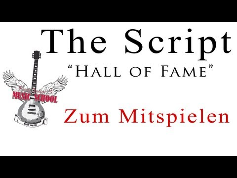 The Script - Hall of Fame Tutorial / Lesson / Chords / How to Play