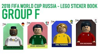 Lego World Cup Sticker Book - Russia 2018 - Group F