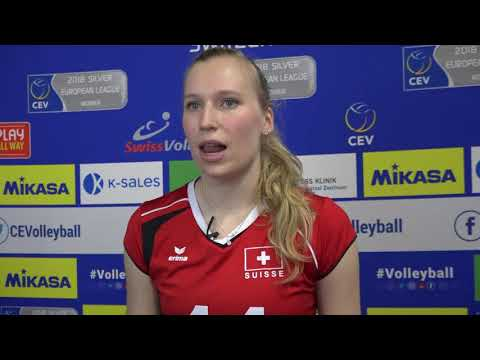 Laura Künzler (SUI) after her team claimed a 3-0 over Kosovo