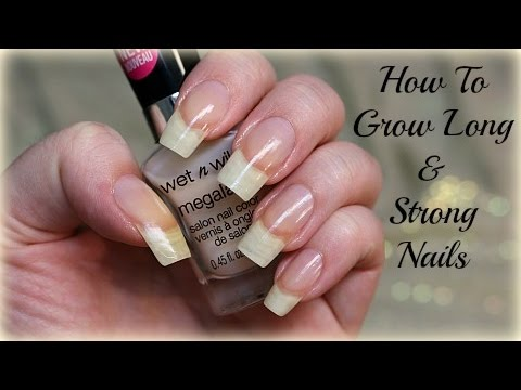 HOW TO GROW LONG AND STRONG NAILS!! - YouTube