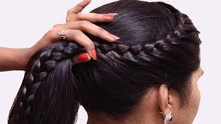 New Braid Hairstyles for long hair || Easy hairstyles for party/wedding || Hair style Girl