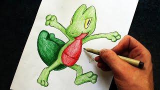Como Desenhar o Treecko [Pokémon] - (How to Draw Treecko) - STARTERS #7