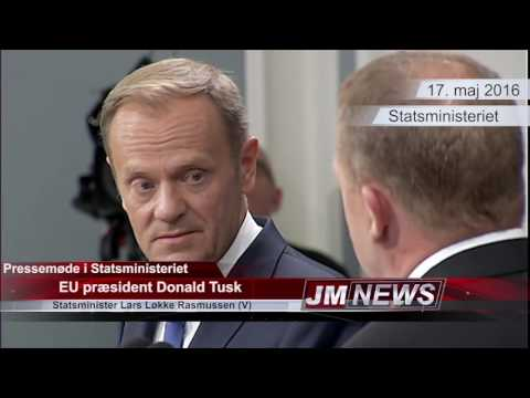 Press conference with Donald Tusk and Lars Løkke Rasmussen.