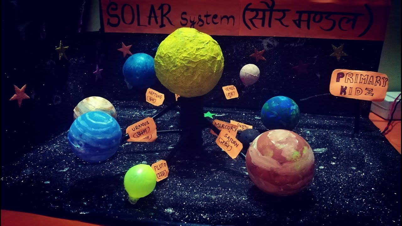 How to make 3D Solar System working Model TLM