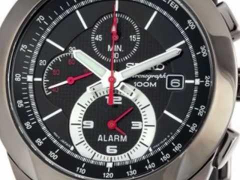 Seiko Alarm Chronograph Mens Watch Snab39p1 Youtube