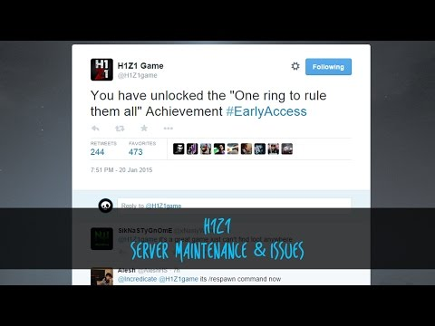 H1Z1 | Server Maintenance & Issues - YouTube