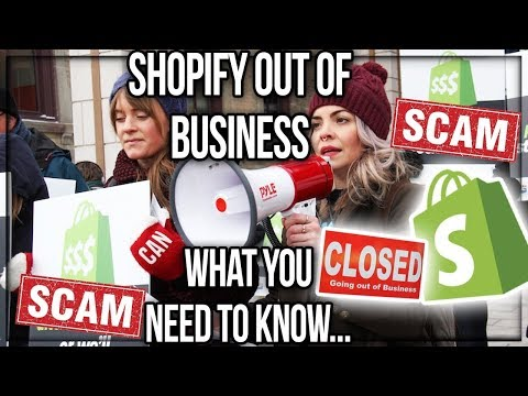 SHOPIFY : BANKRUPT Official News ( Truth REVEALED ) OCT. 2017 RIP SHOPIFY...