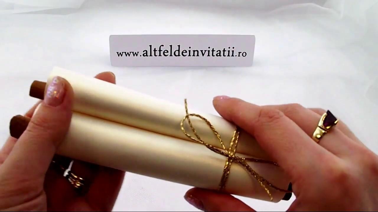 Invitatie Nunta Exclusiv Handmade Youtube