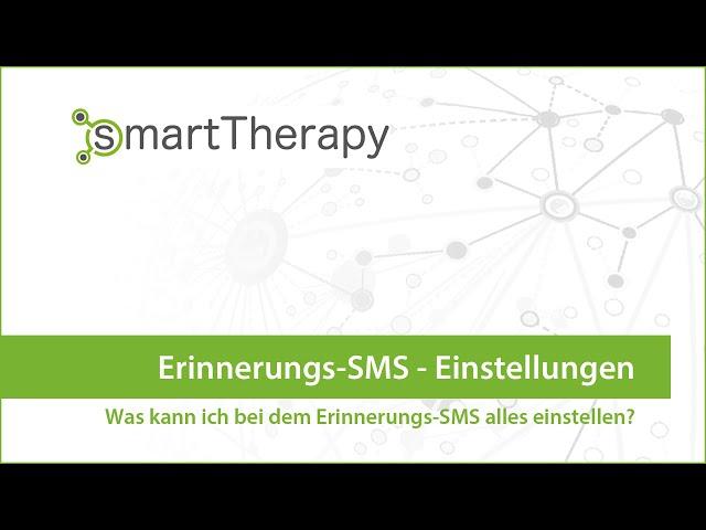 smartTherapy: Einstellungen SMS Erinnerung