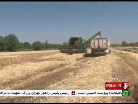 Iran Urmia county, Mechanized Wheat harvest برداشت مكانيزه گندم شهرستان اورميه ايران