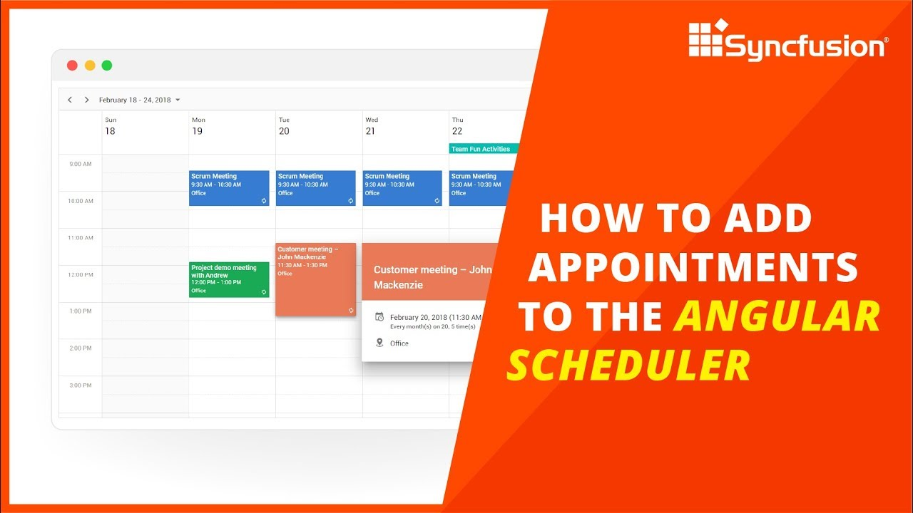 How to Add Appointments to the Angular Scheduler