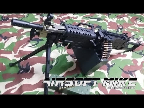 A&K M249 PARA AIRSOFT LIGHT MACHINE GUN Unboxing / Review