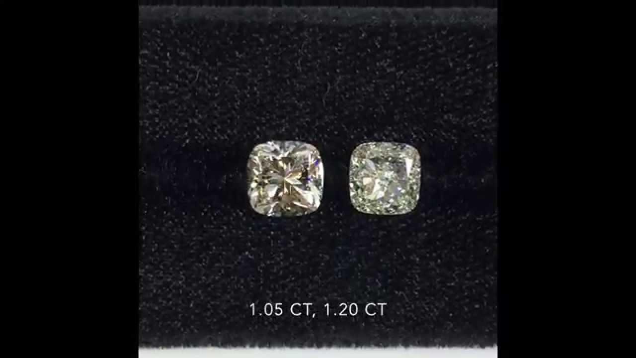 Loose Cushion Brilliant And Modified Cut Diamonds 1 05 1 20 Ct